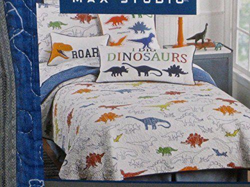 Kids Bedspread Sets Max Studio Kids 2piece Reversible Dinosaurs Twin Quilt Set Sham Included Read More At Th Quilt Sets Kids Bedding Sets Dinosaur Bedding