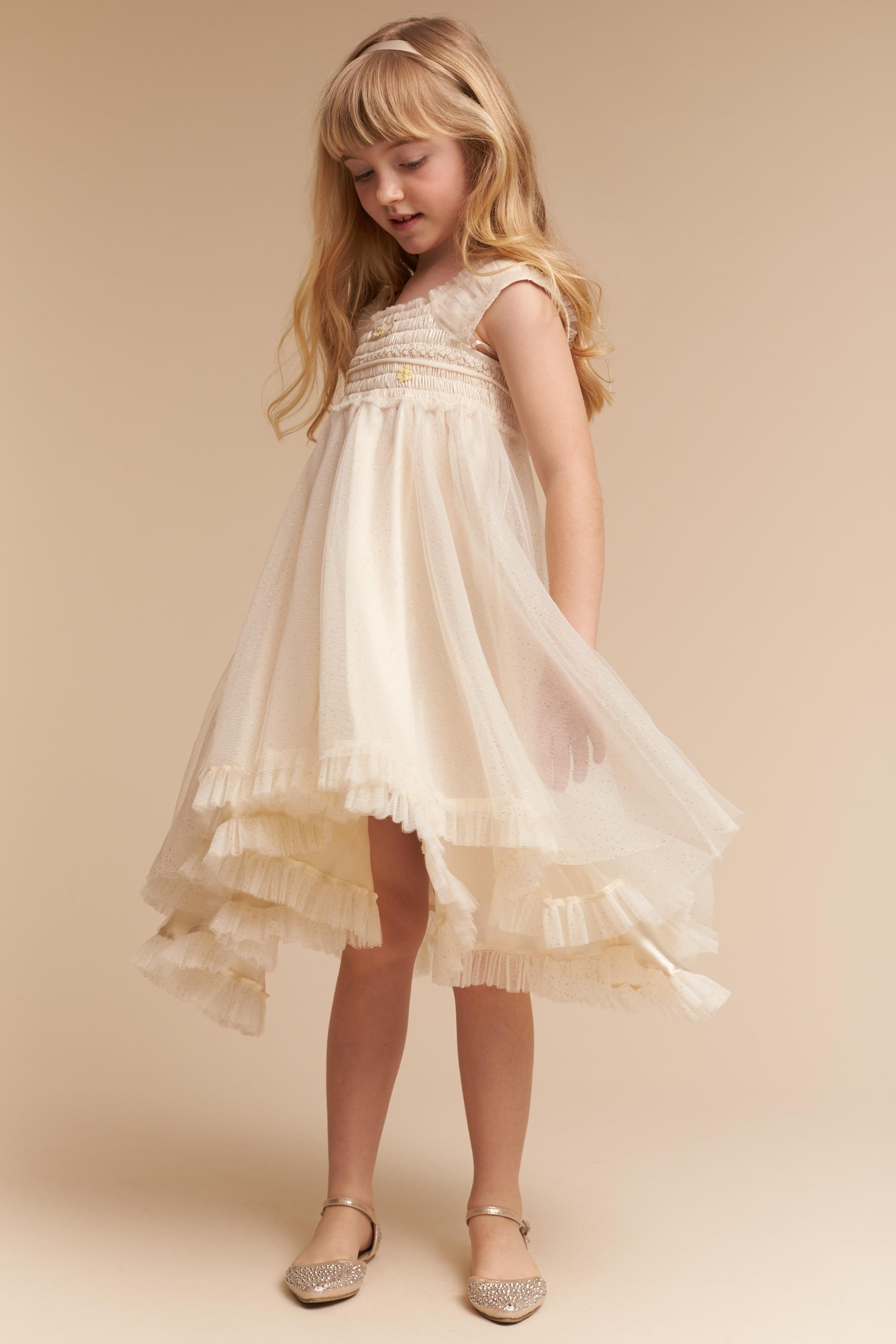 a scottish style flower girl dress with tulle skirt in ... |Flower Girl Dress Brooches