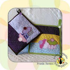 (Retalho de Algodão) Tags: cores bebê toalha patchwork desenhos cozinha presentes lençol encomendas necessaires patchcolagem