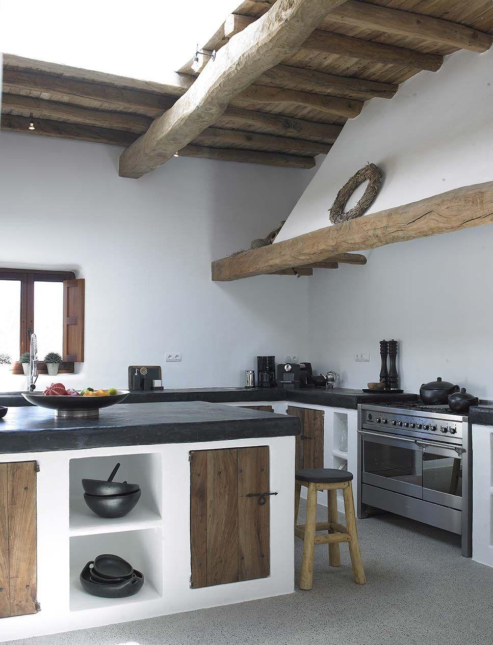 Cucina Rustica Con Isola Con Cucine In Muratura 70 Idee Per ...