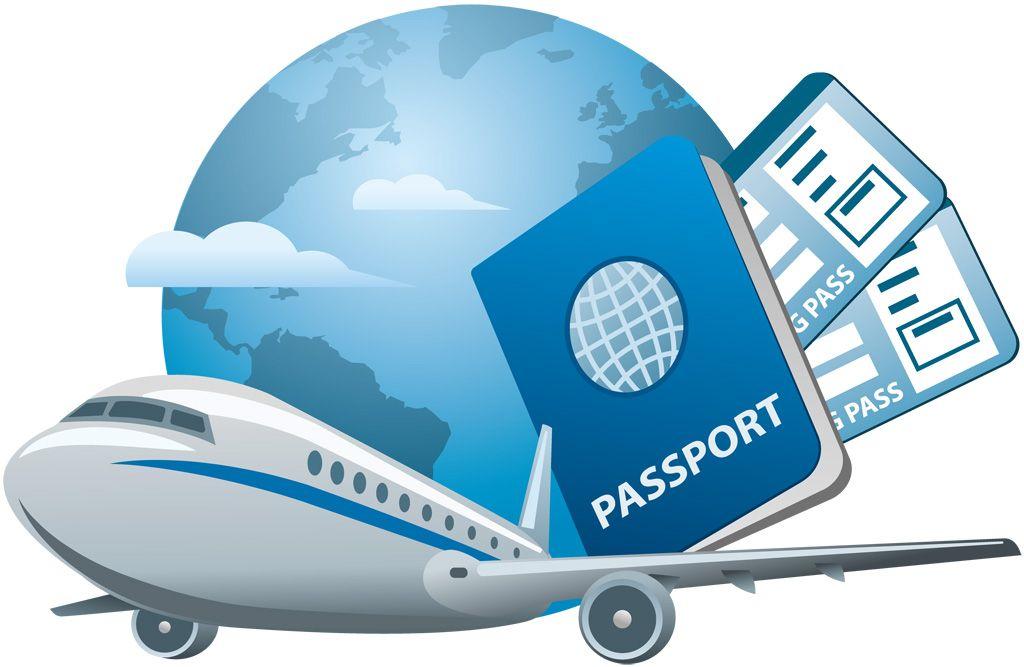 フリーイラスト素材 クリップアート 旅行 トラベル 旅客機 航空機