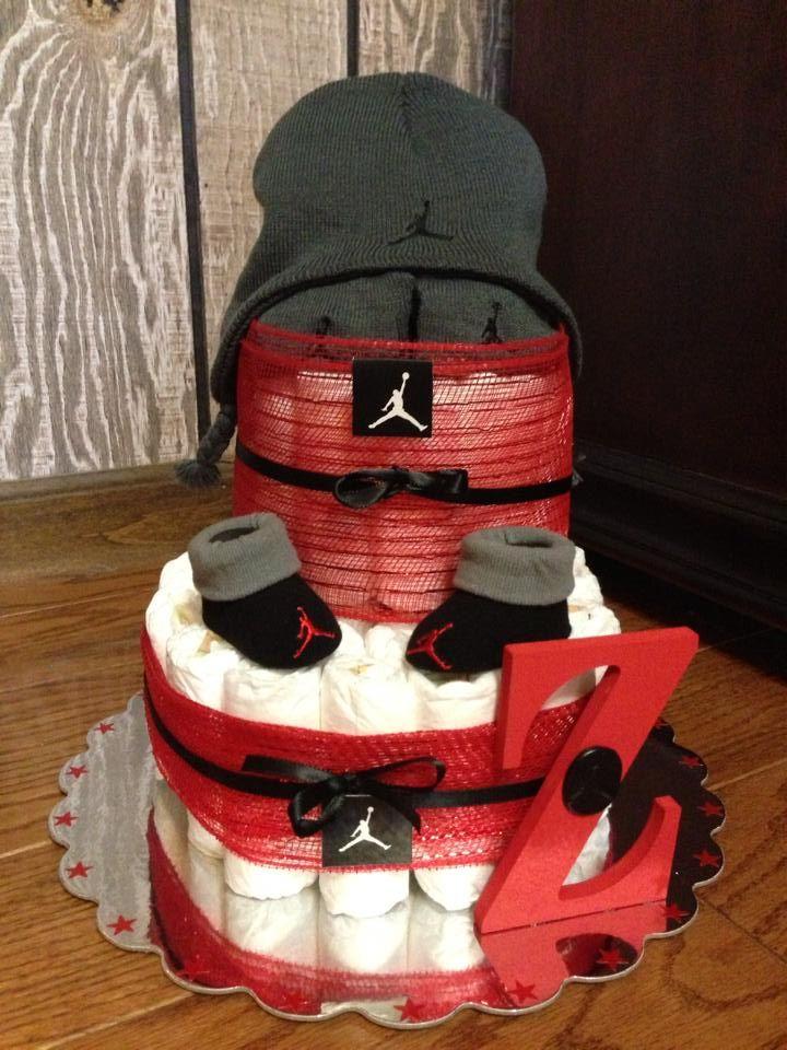 Air Jordan Diaper Cake Includes Diapers Jordan Booties