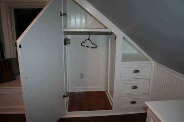 Closet for a room with angled use of dead - Ideas for dead space in living room ...