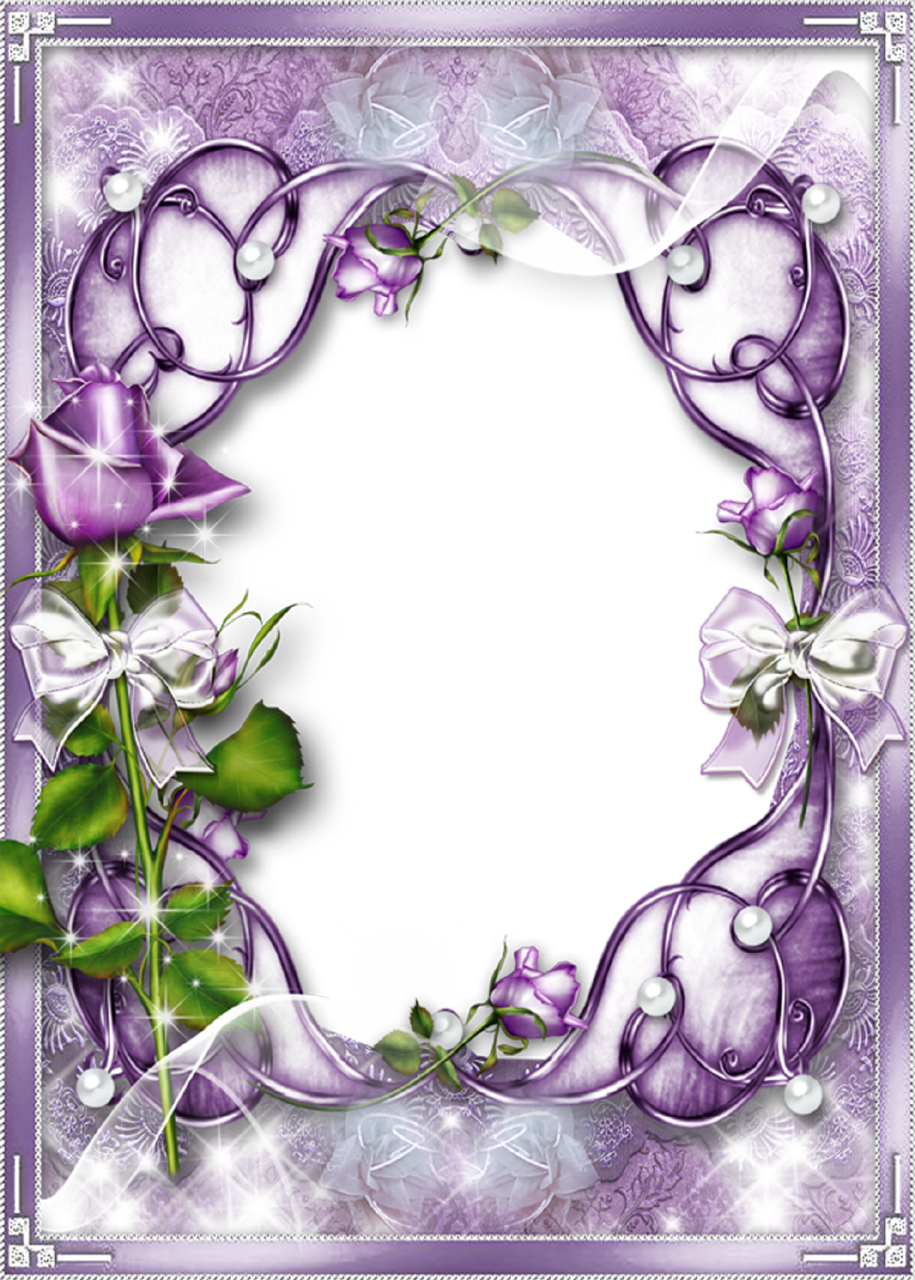 Transparent Purple Frame Creative photo frame for women