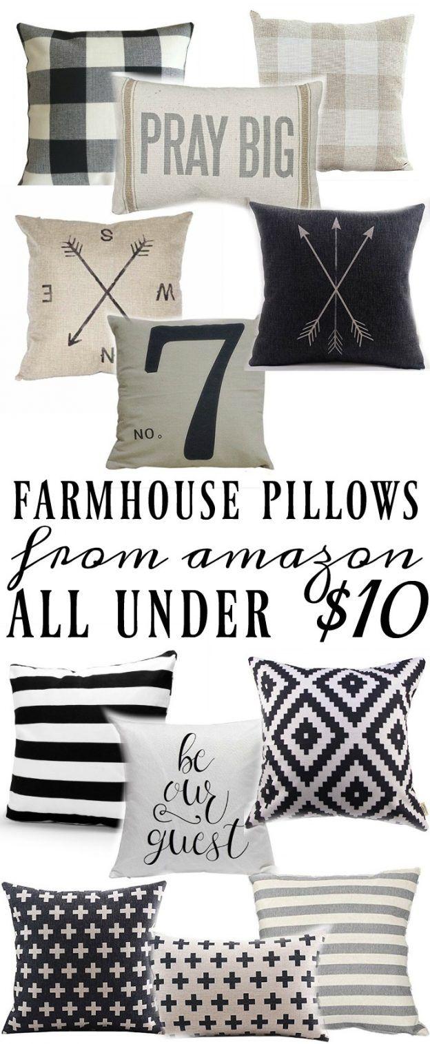 Farmhouse Style Pillows All Under $10 -   23 farmhouse style office ideas