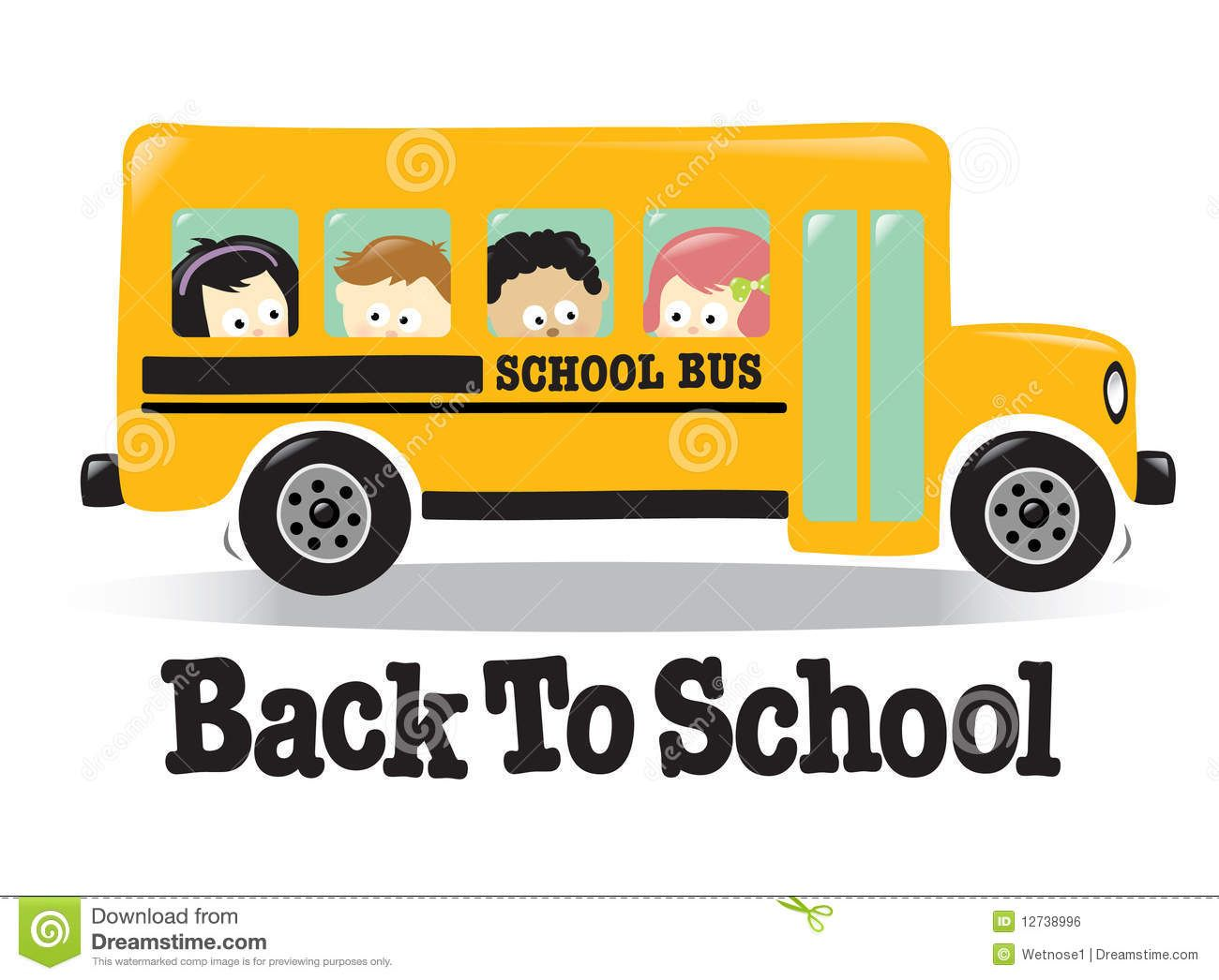 Free Animated Cute Back To School Clipart School Bus Pattern