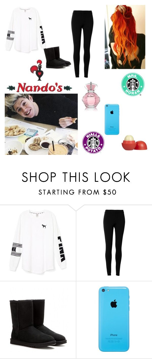 """Nando's w/ Nialler"" by ash-irwin-1994 ❤ liked on Polyvore featuring Victoria's Secret PINK, Max Studio, UGG Australia and Eos"