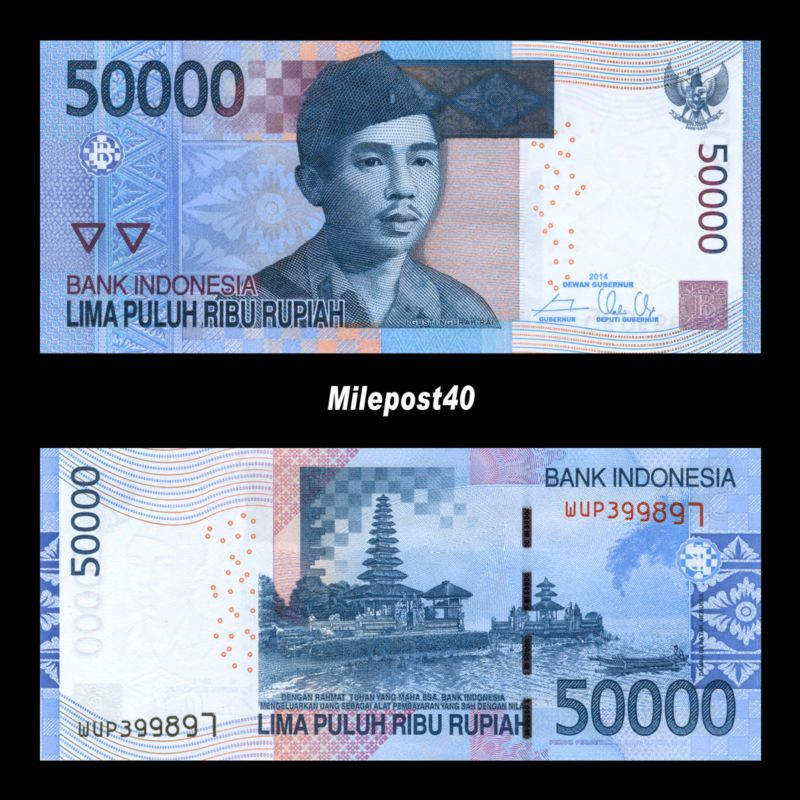 Banknote Indonesia Rupiah 500000 10 X 50000 Circulated Banknotes Idr Usa Er