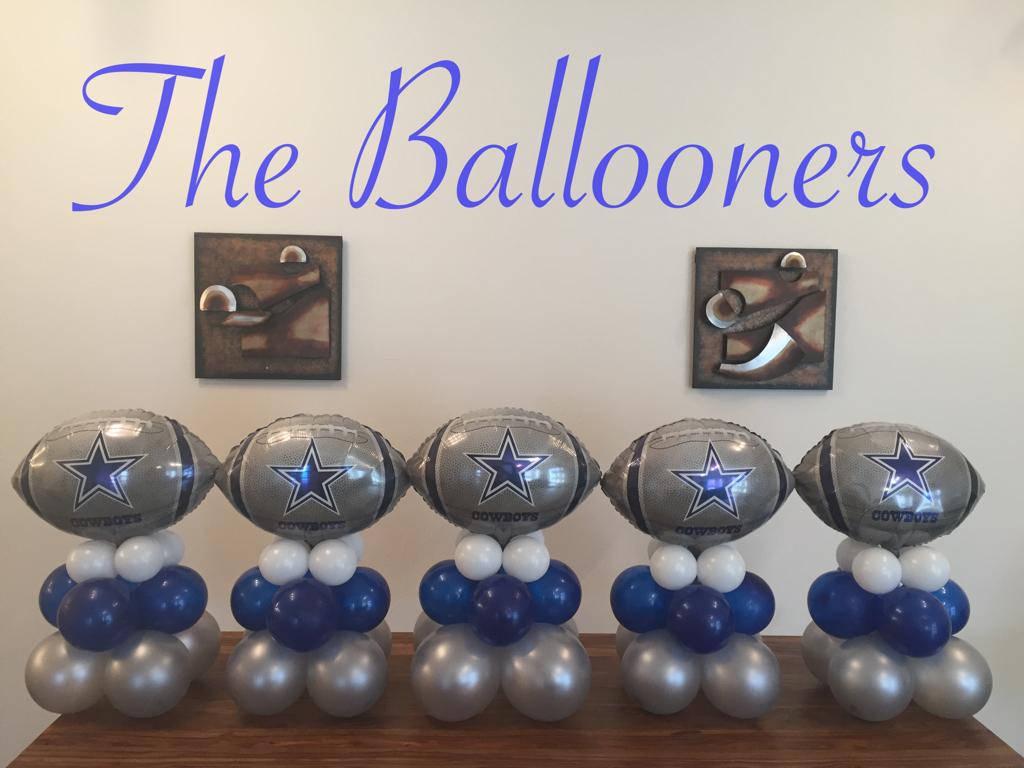 Balloons Dallas Cowboys Theme Dallas Cowboys Baby Shower Dallas Cowboys Birthday Party Dallas Cowboys Theme