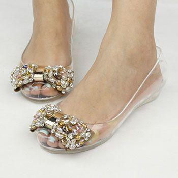 790e44c04 Barato Melissa jelly sapatos strass dedo aberto arco sandálias de cristal transparente  sapatos sapatos femininos Plus size strass rosa S1122, ...