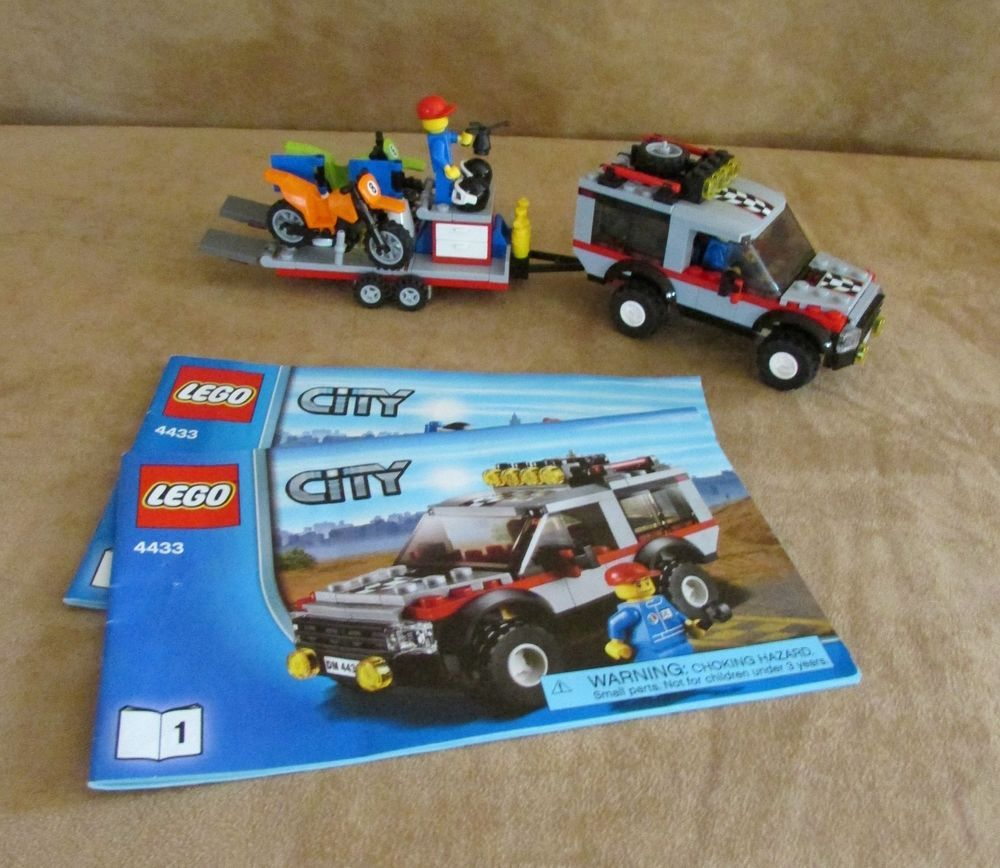 4433 Lego City Dirt Bike Transporter Complete Instructions Town