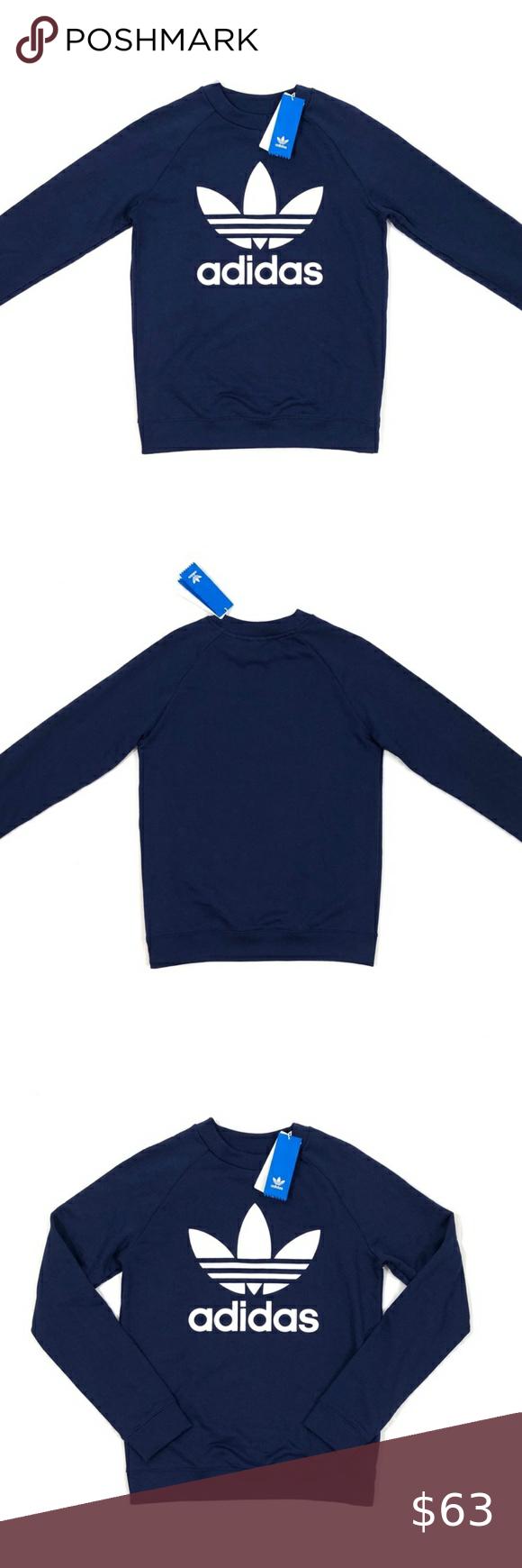 Adidas Originals Trefoil Pullover Sweatshirt Sweatshirts Women Crew Sweatshirts Branded Sweatshirts [ 1740 x 580 Pixel ]
