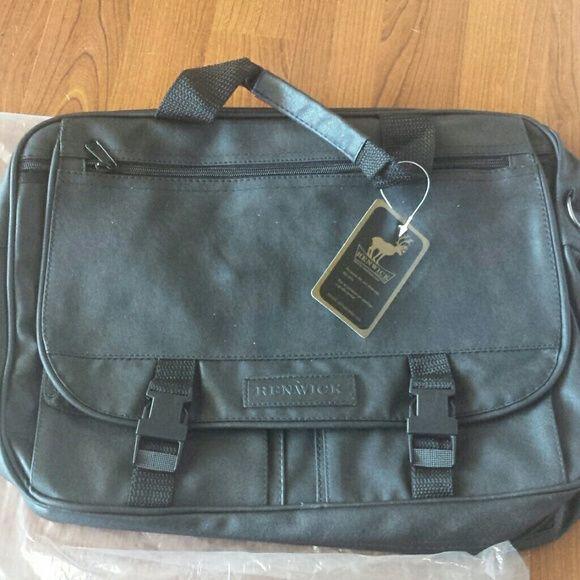 Renwick laptop/briefcase/messenger bag Black Renwick laptop back or messenger bag. Lots of different pockets.  Shoulder strap. Brand new in bag. Renwick  Bags