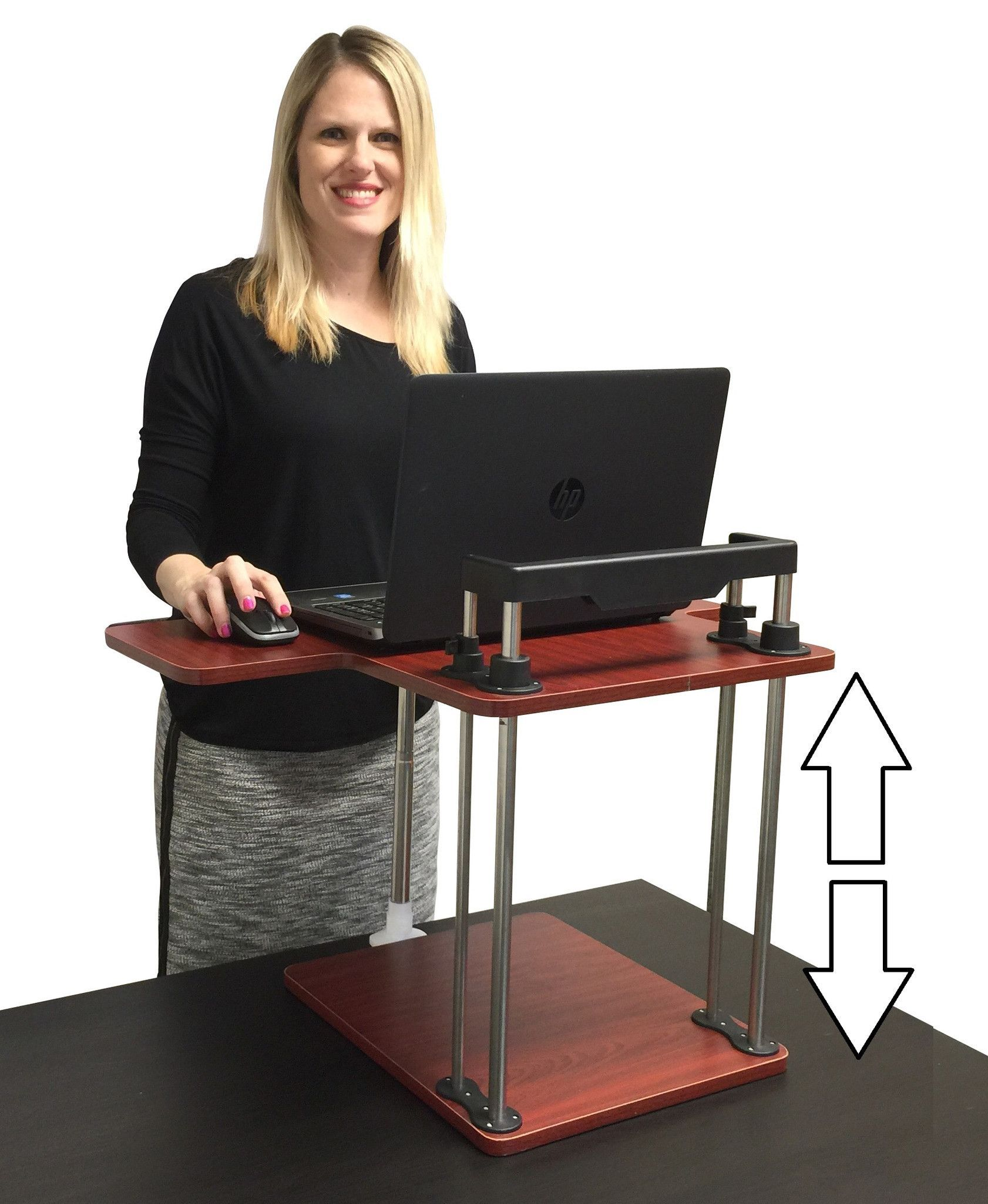 The Uptrak Standing Desk Converts Any Sized Desk Into A Sit Stand Desk Sit Stand Desk Standing Desk Diy Standing Desk