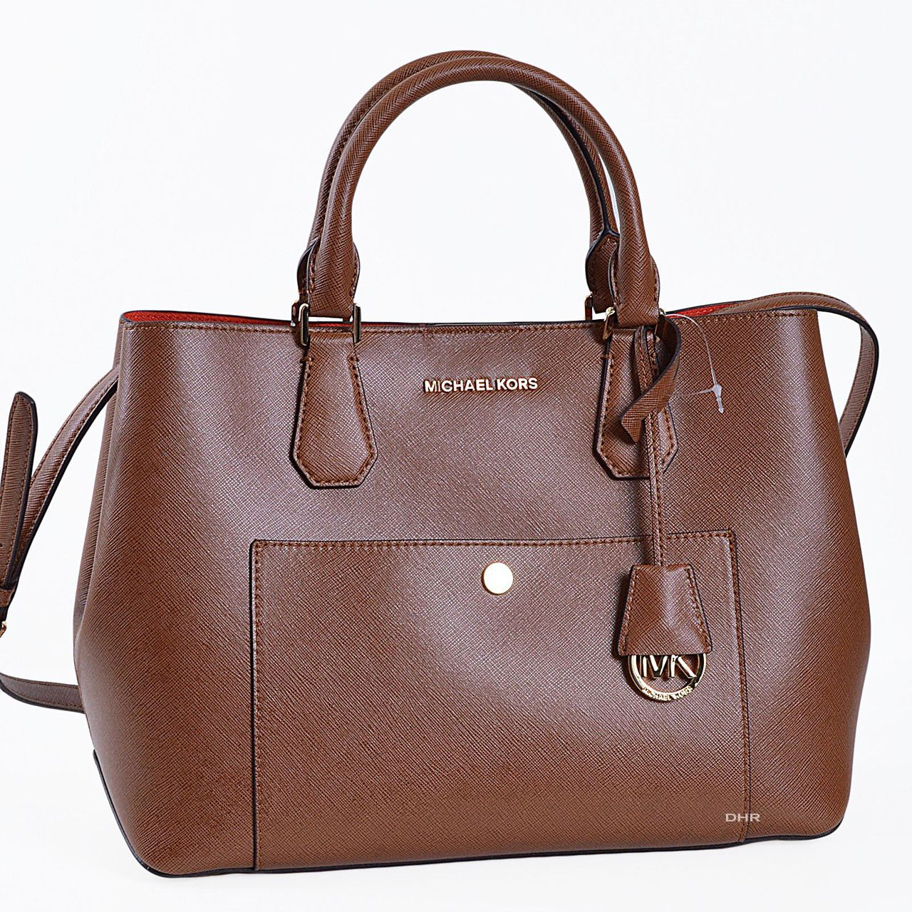 Authentic Michael Kors Bags Guaranteed Greenwich Large Tote In Bag Luggage Brown 23222 Http