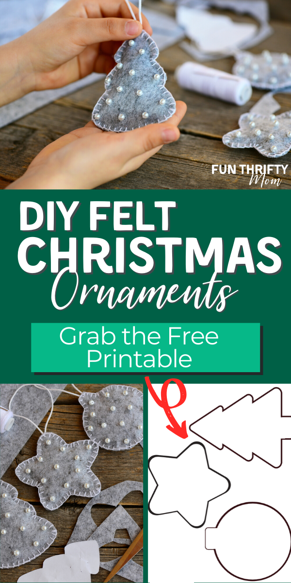 DIY Easy Felt Christmas Ornaments