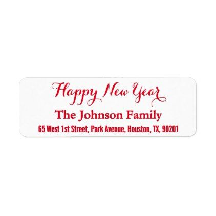 diy custom elegant happy new year return address label holiday card diy personalize design template cyo cards idea
