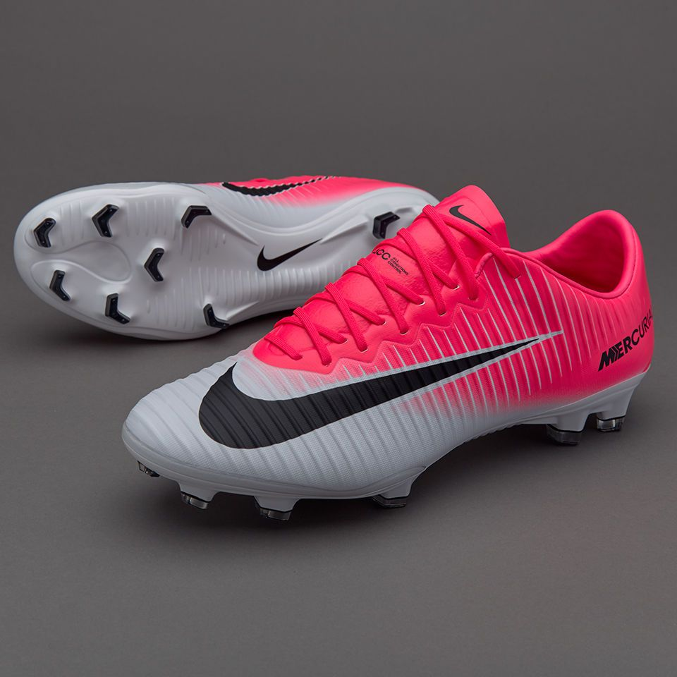 Nike Mens Mercurial Vapor XI FG Cleats (Racer Pink White) 831958 601 ... 353f449236607
