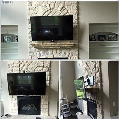 MantelMount PullDown TV Wall Mount Bracket w Full Motion for 48