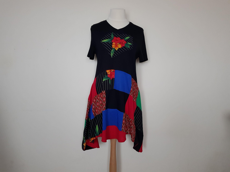 Size Large BohoHippie Design Upcycled Tie Dye Dress