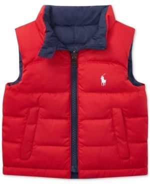 5fe9a88ae Ralph Lauren Baby Boys Reversible Ripstop Vest - Polo Sport Red ...