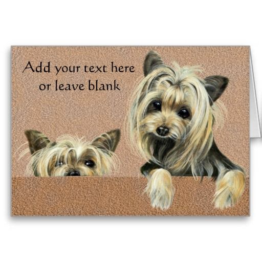 Personalized Yorkie Note Cards