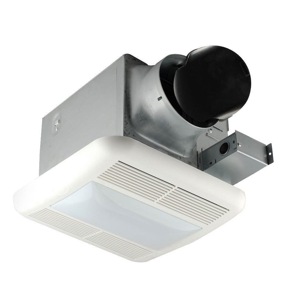 Hampton Bay 140 Cfm Ceiling Exhaust Bath Fan White Bath Fan Bathroom Fan Fan Light