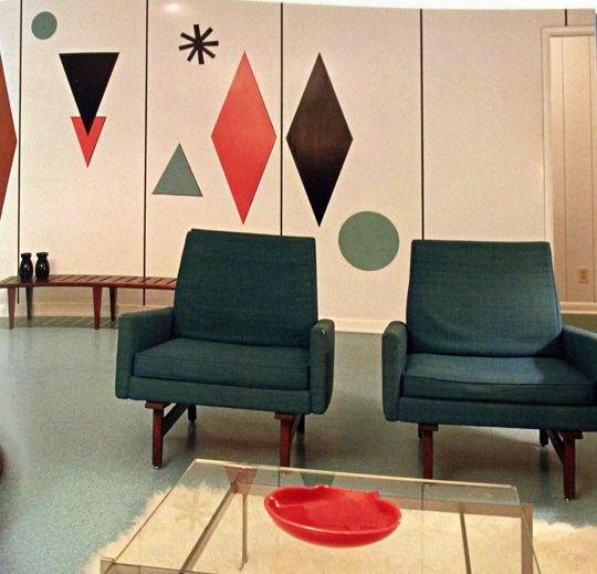 Mid Century Modern Interiors Retro Art Glass Mid Century Modern