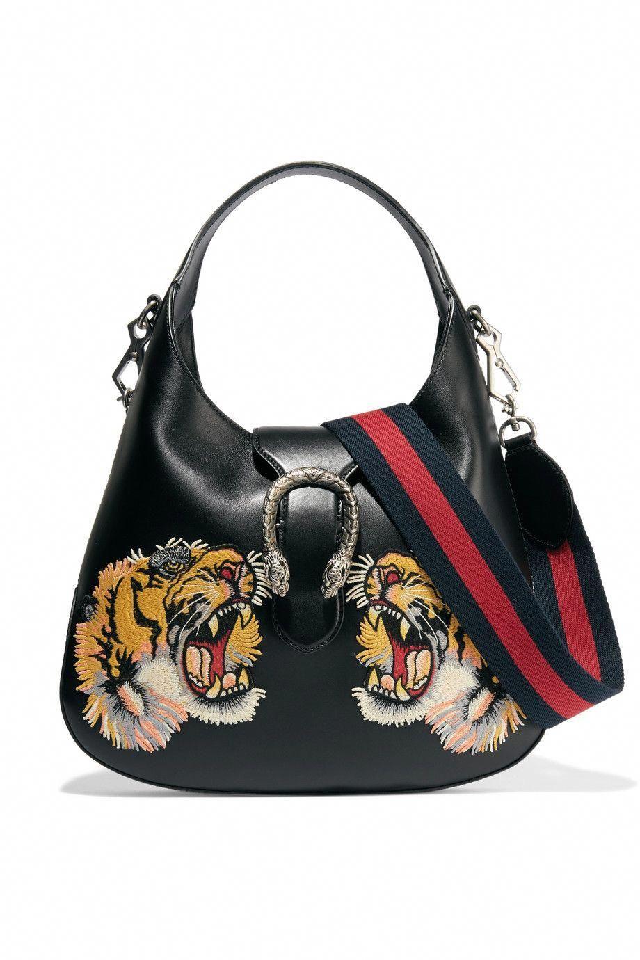 14291a857951 Gucci | Dionysus Hobo small appliquéd leather shoulder bag | NET-A-PORTER.