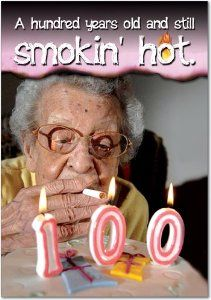 Amazon 100 Years Still Smoking Hot Birthday Joke Paper Card Office Products