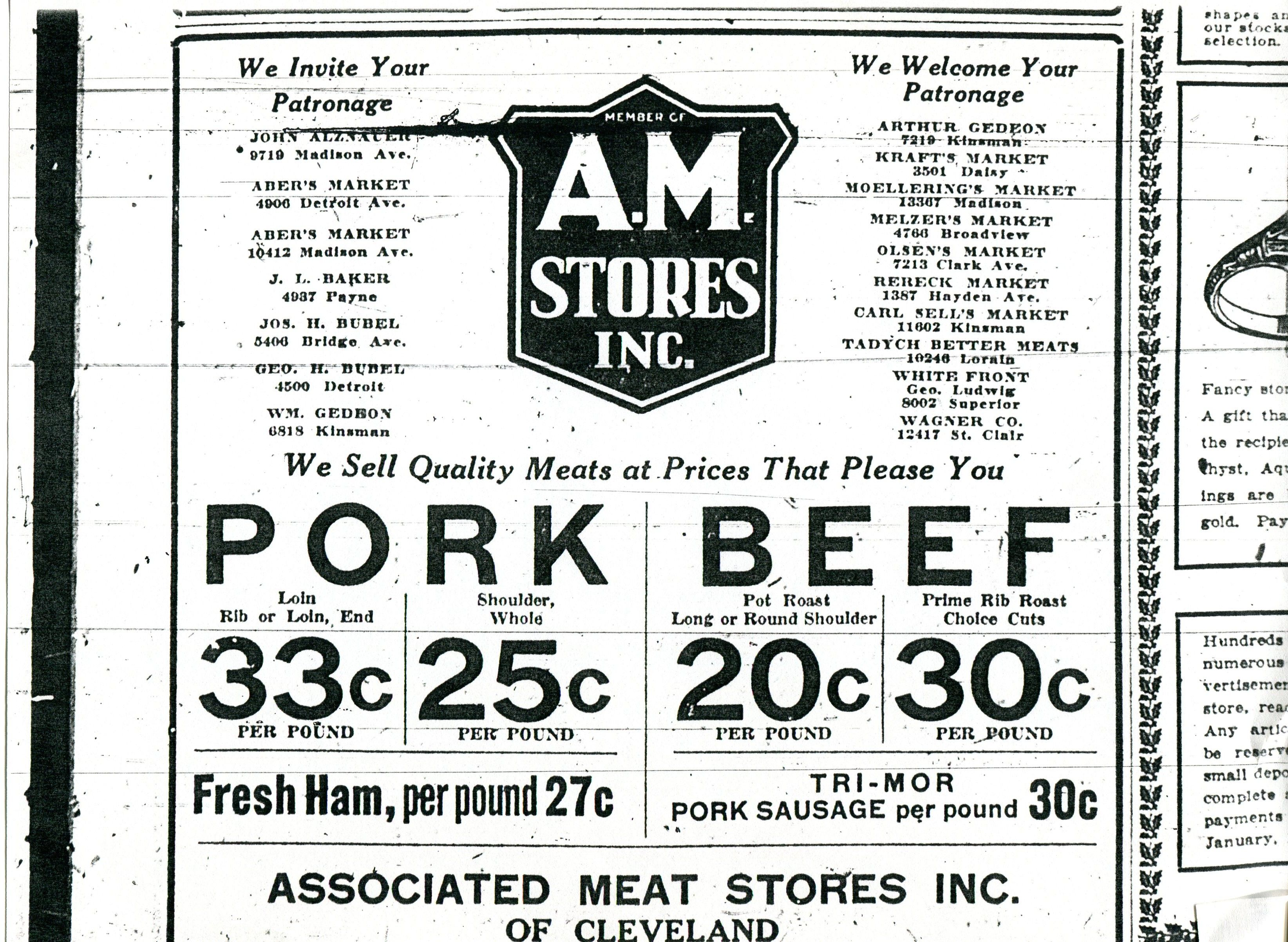 united food stores vintage ohio grocery ads food am stores ad 1920 s