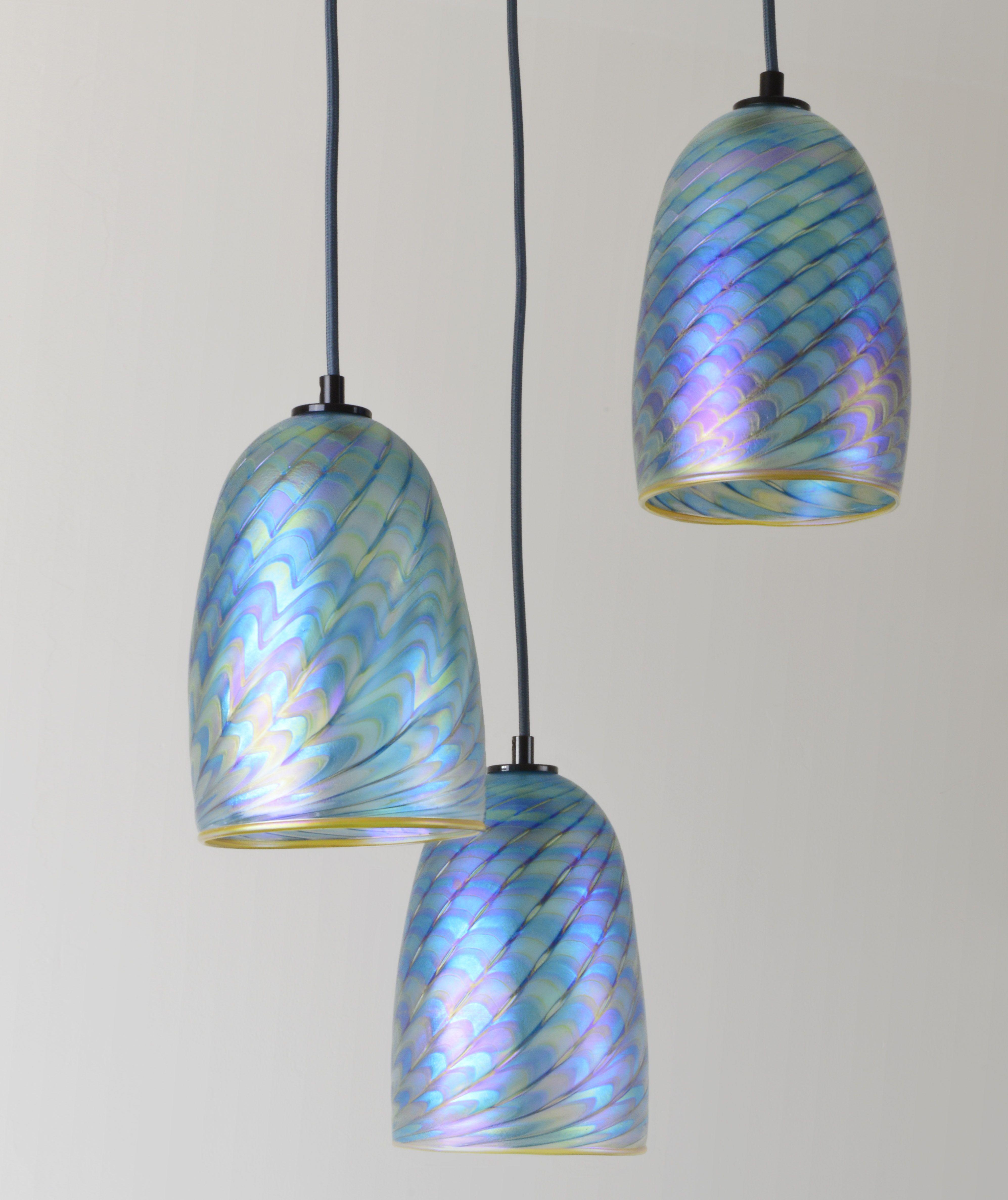 Art Glass Pendant Lighitng Iridescent Glass Hanging Lamp By Iricape Glass Ceiling Pendant Glass Pendant Light Glass Pendant Ceiling Light Mini pendant lights art glass