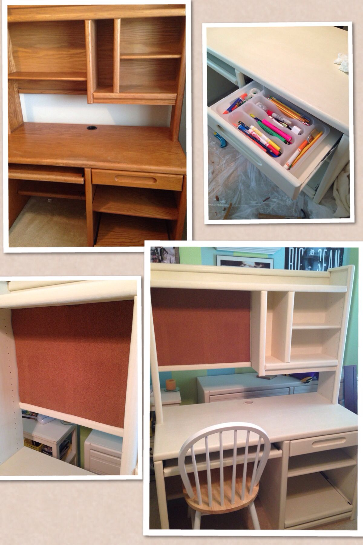 old fashioned computer desk makeover using annie sloan chalk paint
