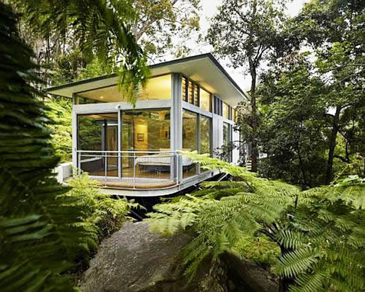 Architecture Brilliant Modern Glass Houses Design With