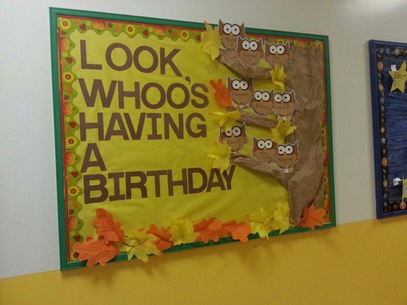 Fall 2013 Birthday Bulletin Board Birthday Board Classroom Birthday Bulletin Birthday Bulletin Boards