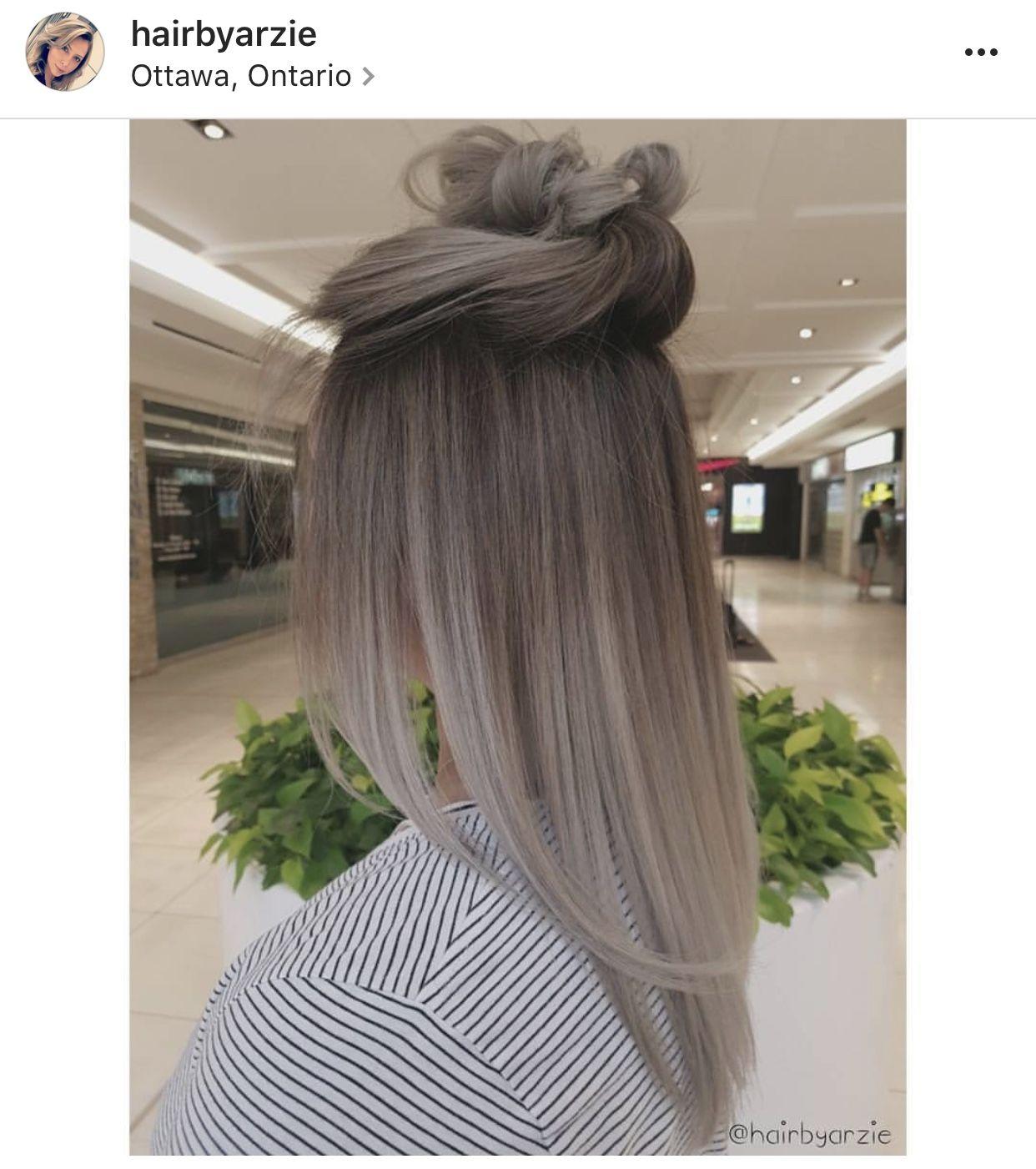 Cabello  Peinados en 2019  Cabello Color gris cabello y