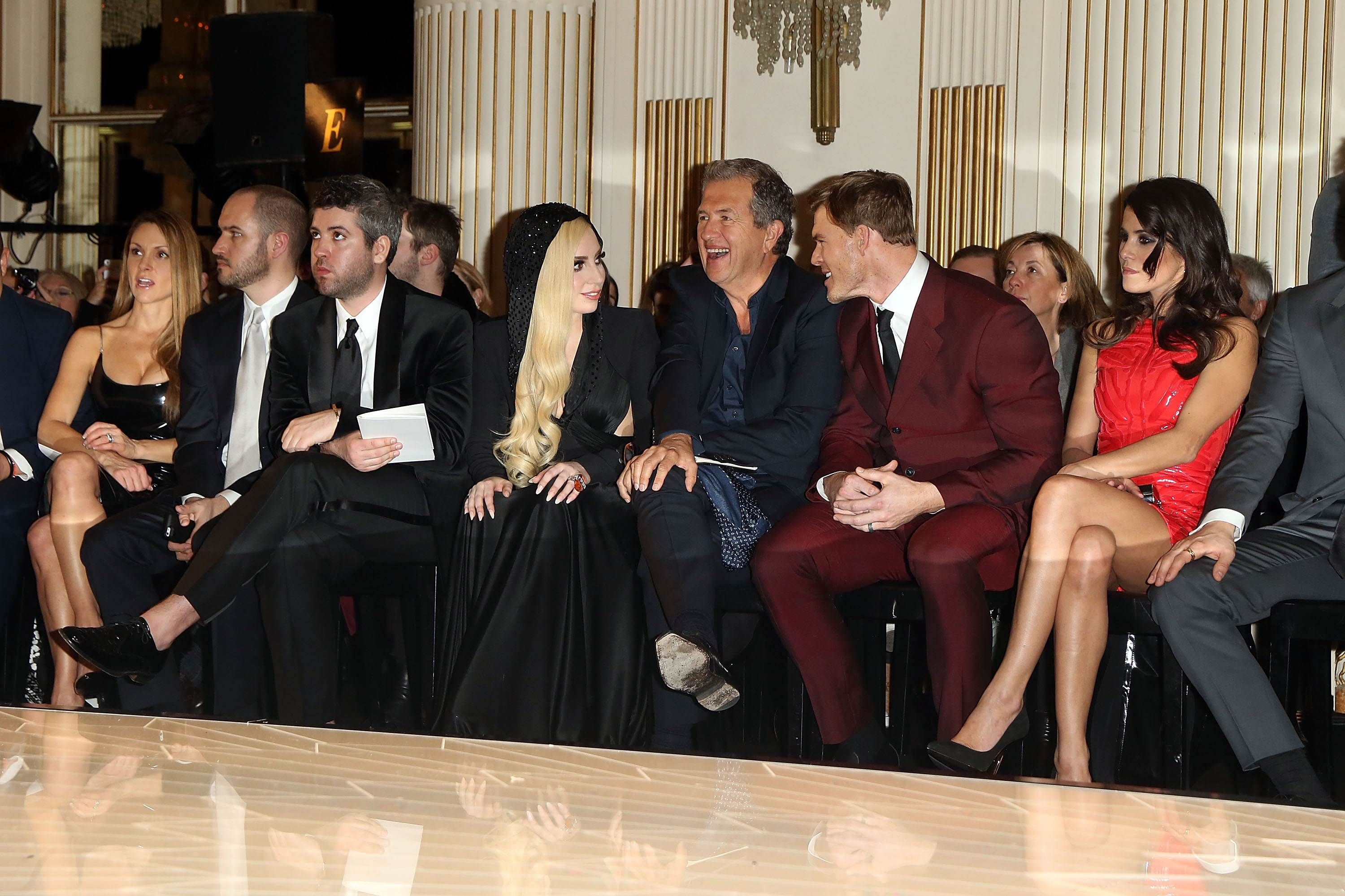 Lady Gaga during the Versace Fashion Show #1