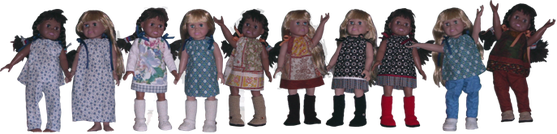 Pillowcase outfits for 18 dolls. #pillowcasesandpillowcasedolls Pillowcase outfits for 18 dolls. #victoriandolls