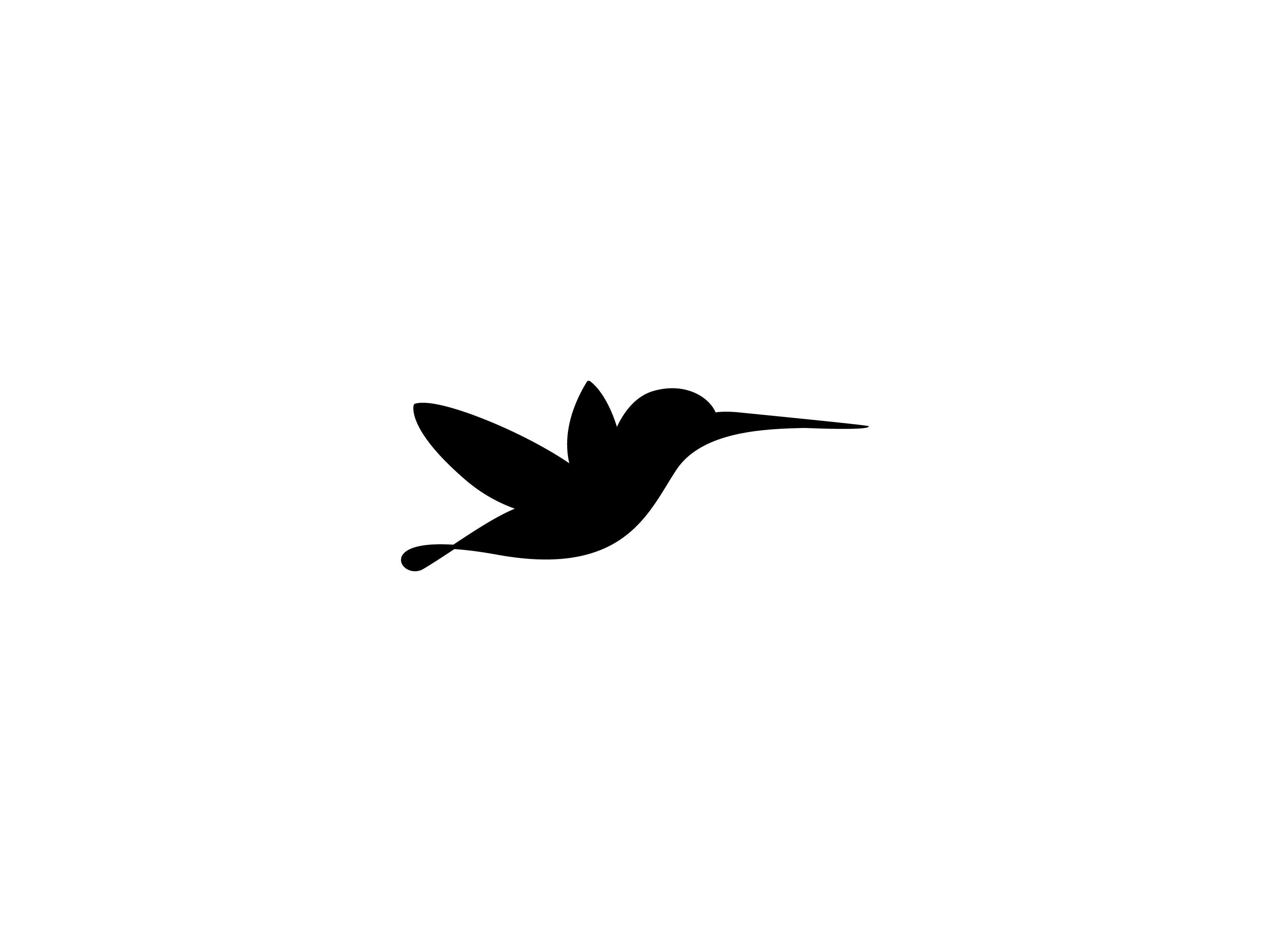 Flying Humming Bird Line Art Logo Template Vector Icon Art Logo Bird Logo Design Bird
