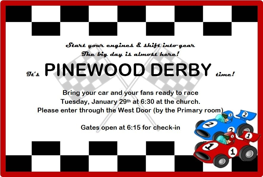 Crafting Weasels Pinewood Derby Pictures- invitations be a Cub - pinewood derby template
