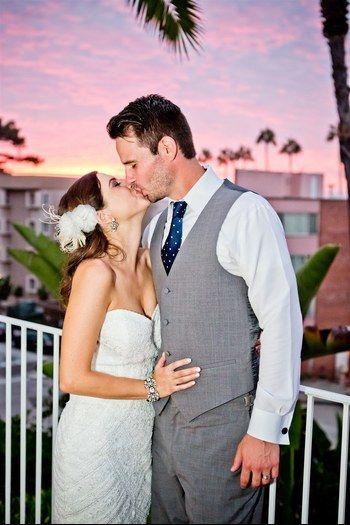 Jenny & Britt   La Valencia Wedding in La Jolla, CA #sunset #brideandgroom #dreamwedding