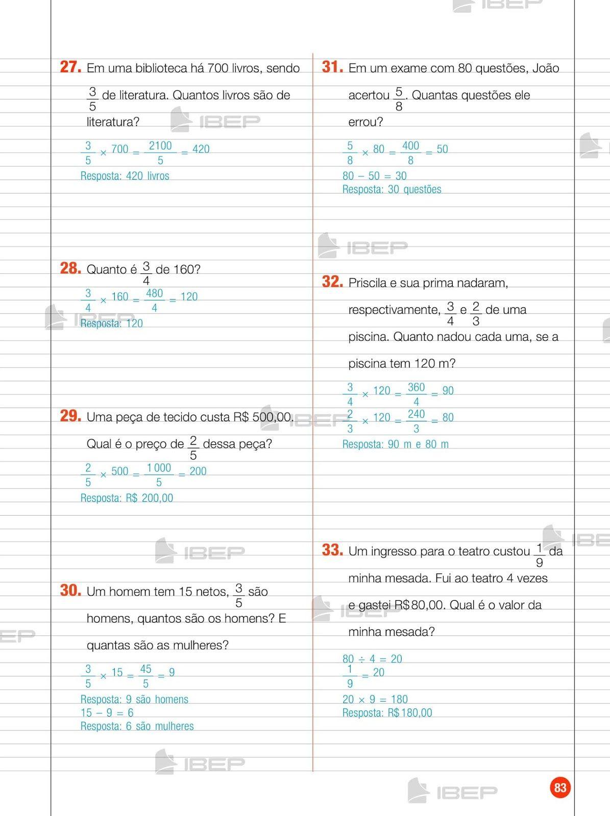 Pin Em Atividades Matematica