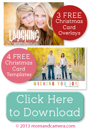 Free Christmas Card Templates and Overlays for Photoshop and ...