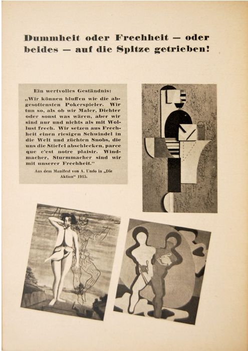 """13/15 - """"Ignorance or stupidity – or both – to the extreme!"""" Programme for Entartete Kunst (Degenerate Art) first edition, 1937, Nazi campaign, Munich."""