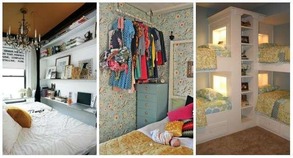 14 astuces pour gagner de la place dans une petite chambre coucher d co. Black Bedroom Furniture Sets. Home Design Ideas