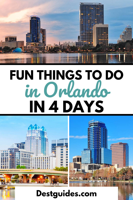 The Ultimate 4 Day Orlando Itinerary Orlando Travel Florida Travel Usa Travel Guide