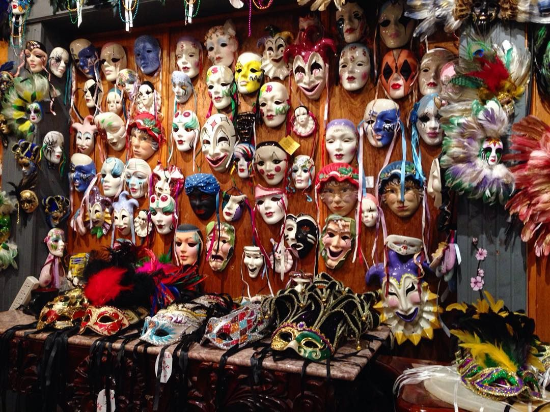 A Sea of Mystery.  #iphone5 #instagood #handmade #masks #masquerade #colors #davitaaundreaphotography #nofilter #frenchquarter #neworleans by coco_vita