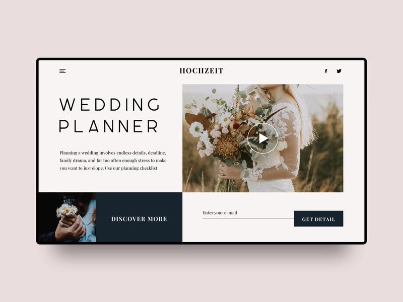 Wedding Planner Landing Page Wedding Planner Landing Page Planner