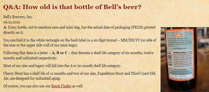 Bells brewery dating