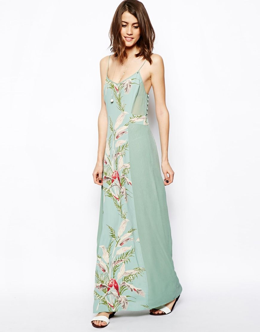 Maxi dress with Bird Print. Love. Want. | Head to Toe | Pinterest